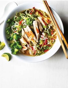 This reviving Vietnamese soup recipe with chicken is a fresh, healthy supper that's ready in just 20 minutes.
