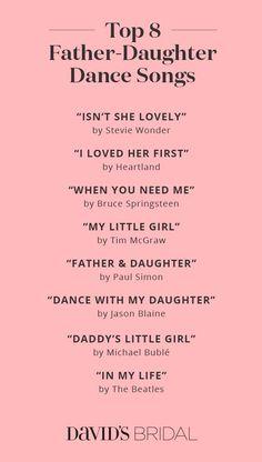 Wedding Playlist : Father Daughter Dance