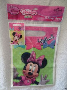 Disney Minnie mouse Birthday Party Bag Favor 8ct New