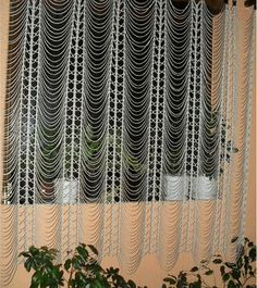 Crochet treasure trove: curtain of long stitches chains