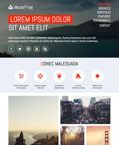 33 Best Adobe Muse Free Themes Images Adobe Muse Design Websites