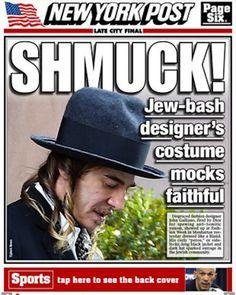 John Galliano Outfit: Is It Anti-Semitic?