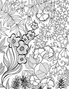 Free Flowers colouring page.