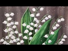 Easy Flowers Lily of the Valley Acrylic Painting Tutorial LIVE - YouTube