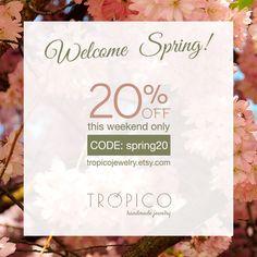 All items! This weekend only! Happy shopping! :) Todos los artículos -20%, sólo por este fin de semana! Felices compras! :)