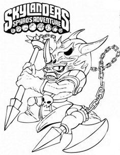 Skylanders Spyros Adventure Coloring Pages 9