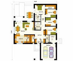 Projekt domu Ambrozja 6 - rzut parteru