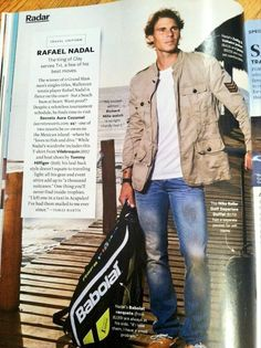 Rafael Nadal in the June 2013 issue of Travel + Leisure #atp #tennis #travel