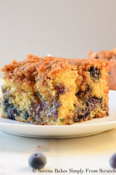 Classic Coffee Cake filled with blueberries and a center swirl of brown sugar cinnamon. Then topped with a brown sugar crumb topping. Perfect for Breakfast, Brunch Or Dessert.