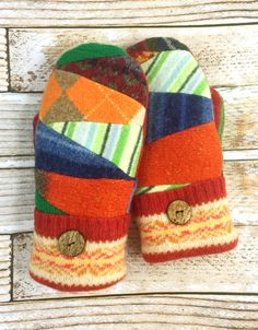 A personal favorite from my Etsy shop https://www.etsy.com/listing/505963940/sweater-scraps-mittens-worlds-warmest