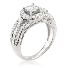 Montebello 14k Gold 1ct TDW Diamond Composite Set Ring