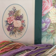 Vintage needlepoint kit Floral Gathering by Elsa Williams on colour printed 13 count mono canvas - unworked by KindredClassics on Etsy Stool Covers, Needlepoint Kits, Pretty Pastel, Summer Flowers, Flower Making, Elsa, Count, Tapestry, Colour