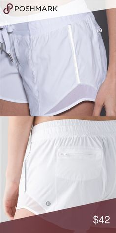 """Lululemon Hotty Hot Short""""Long"""" NWOT.  Relaxed fit.  Flat drawstring.  Reflective detail.  4 inch inseam.  Not included in bundle. Lululemon Shorts"""