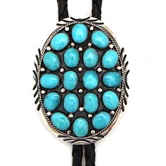 Oval 18-stone Bolo at Maverick Western Wear
