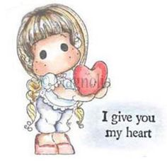 Étampe Magnolia Tilda I Give You My Heart