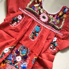 Mexican Embroidered Traditional Dress for Girls Size 4 / 5