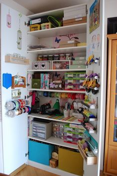 i need/real want this a whole closet for ym crafting stuff! craft storage - Scrapbook.com