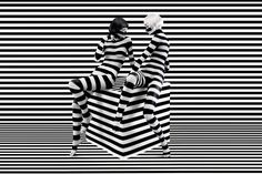 Striped Girls Black and White