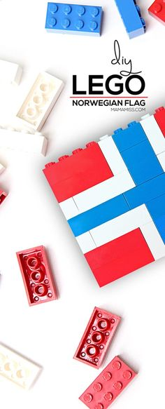Study each country flag in a fun & educational way – with Legos from Early Learning Activities, Lego Activities, Summer Activities, Name Crafts, Fun Crafts, Crafts For Kids, Dinosaur Alphabet, Alphabet Board, Norwegian Flag