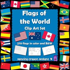 Flags of the World: 270 World Flags - Clip Art Set