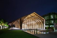 Conference Hall Made From Two Types of Bamboo in Vietnam – Fubiz Media