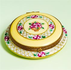 Limoges French Style Make Up Powder Box The Cottage Shop