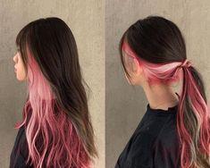 Pink Hair Dye, Hair Color Pink, Hair Dye Colors, Dye My Hair, Hair Color For Black Hair, Two Color Hair, Under Hair Dye, Under Hair Color, Hidden Hair Color