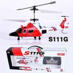 Coast Guard Rescue RC 3.5CH Gyro Helicopter Mini Infrared Remote Controlled SYMA Heli S111G buy now with latest deals offer price