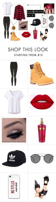 """""""Wolf Hunter Encounters"""" by alexistorrez on Polyvore featuring Topshop, Timberland, prAna, Victoria's Secret, adidas, Ray-Ban and Leg Avenue"""
