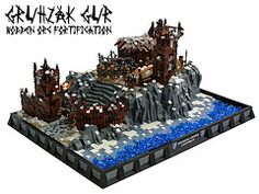 Gruhzak Gur (Disco86) Tags: light tower castle classic ice court paul fight gate king lego earth contest goblin ccc middle palisade fortification hobbit colossal orc warg wulf ramshakle wargs cccxi gundabad brickenstein