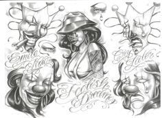 Smile Now Cry Later Tattoo Art Design