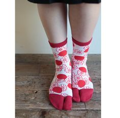 Tabi Socks Chrysanthemum and Polka Dots(Mid Calf) : SOU • SOU US Online Store