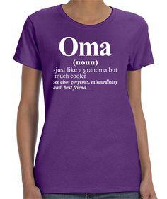 Oma - Women T-Shirt - Oma Shirts - Oma Gifts by FamilyTeeStore on Etsy