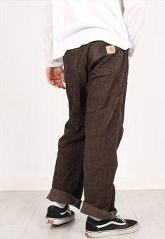 VINTAGE CARHARTT CORDUROY TROUSERS Outfit Con Pantaloni c624256c5dc8