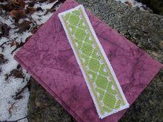 Spring green bookmark cross stitch pattern by CamisTheCrossStitch