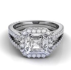 Danhov Carezza Double Shank Engagement Ring XE109-AS
