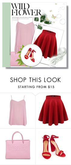 """""""Red and Pink"""" by liasalvatore ❤ liked on Polyvore featuring Dorothy Perkins and Moschino"""