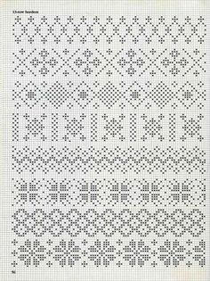 some fair isle patterns These would be great for the palms of mittens!See 4 Best Images of Knitting Fair Isle Pattern ideas about filet crochet charts onpergamano - Page and can be subtle too. Cross Stitch Borders, Cross Stitch Charts, Cross Stitch Designs, Cross Stitch Embroidery, Embroidery Patterns, Cross Stitch Patterns, Fair Isle Knitting Patterns, Fair Isle Pattern, Knitting Charts