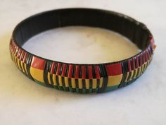 Rasta Bangle -  Thick Dimensions - 70mm width x 55mm Weight - 4g