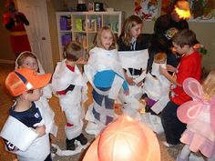 Sometimes Creative: Halloween Party  Mummy wrap contest