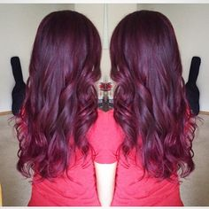 #hair #haircolor #sombre #ombre #violet #red #plum #burgundy #hues #balayage #highlights #contour #hairover #sofab #waves #curls #summerready #glam #xoxomi