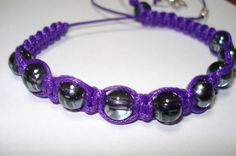 purple shambala inspired bracelet by Prettyandfun on Etsy, €10.50