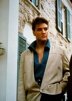 Elvis Presley at his home, Graceland, in Memphis, Tennessee, circa 1955.