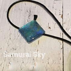 Hand Painted Pendant. Unique Design By Samurai Sky Jewellery.