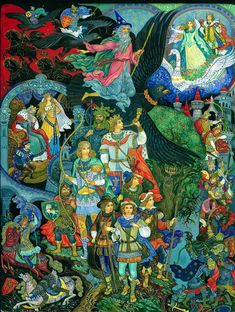Lord of the Rings II from Palekh by Vera Smirnova