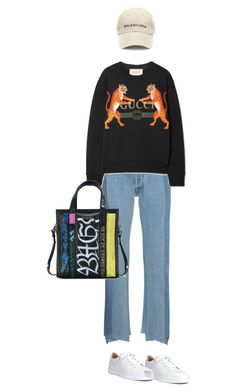 """Untitled #190"" by afivahapriani on Polyvore featuring Vetements, Gucci, Christian Louboutin and Balenciaga"