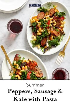Who says a hearty summer meal can't be healthy? We take everything to love about summer eating and put it all into a bowl of pasta. Grilled peppers and fennel perfectly complement hot Italian sausage and fresh greens for a dish that's light, fresh, summery and perfect for pasta lovers everywhere.
