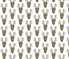 Moosehead brown fabric by ilsephilips on Spoonflower - custom fabric