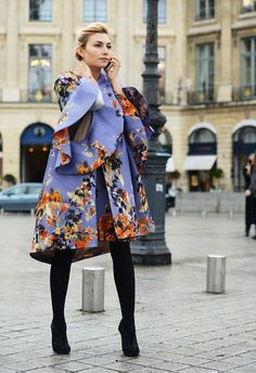 Flower power, defined. Also I absolutely love this coat...jacket...dress ...I declare it a 3 n 1