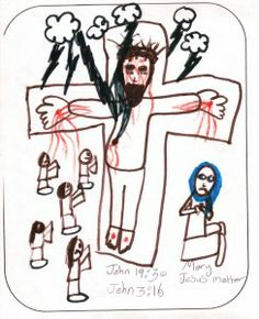 CALVARY drawn by a child aged 12 or under as part of BrixKidz Picture Preachers competition www.brixkidz.org
